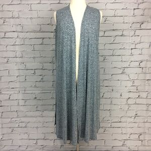 LuLaRoe Joy Long Vest, Size L
